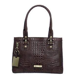 Etienne Aigner 'Tiffany' Croco Small Tote Bag
