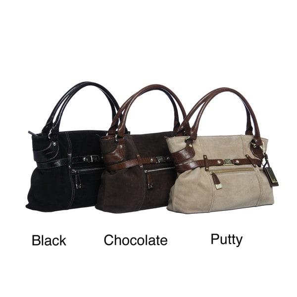 Etienne Aigner 'Nikki' Leather Shopper Handbag