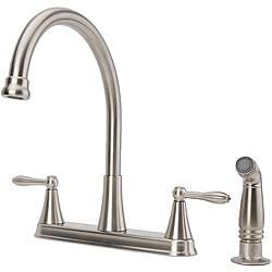 Fontaine Two-Handle Brushed Nickel Kitchen Faucet/ Side Spray