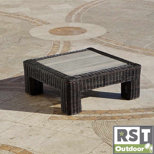 rattan coffee table square 1