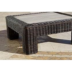 RST Resort Collection Espresso Rattan 36-inch Square Outdoor Coffee Table