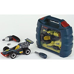 Theo Klein Bosch Blue Plastic Grand Prix Car Set with Carry Case
