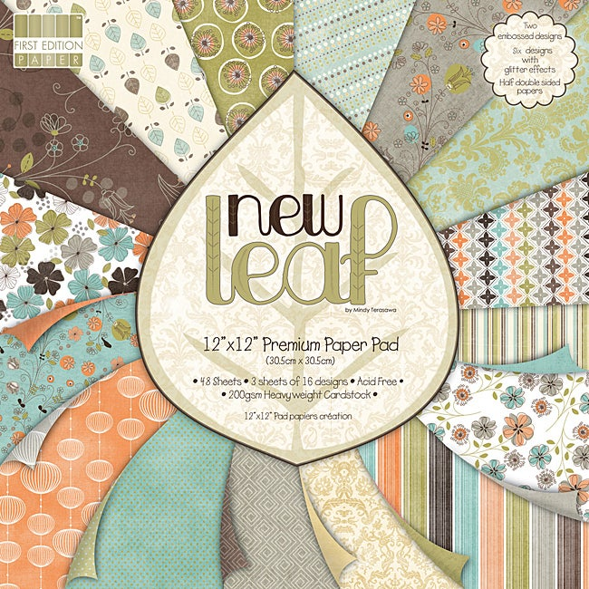 Premium 'New Leaf' Paper Pad (12-inch x 12-inch)