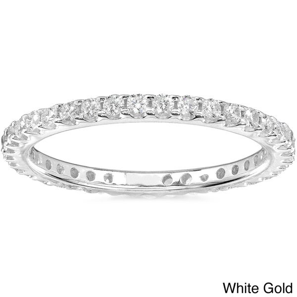 Annello 14k Gold 1/2ct TDW Diamond Eternity Wedding Band (G-H, I1-I2)