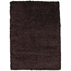 Rainbow Contemporary Brown Shag Rug (4'9 x 6'6)
