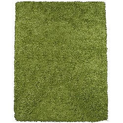 Rainbow Contemporary Green Shag Rug (4'9 x 6'6)