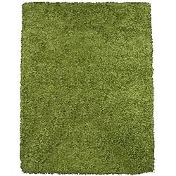 Rainbow Contemporary Green Shag Rug (4'9 x 6'6)