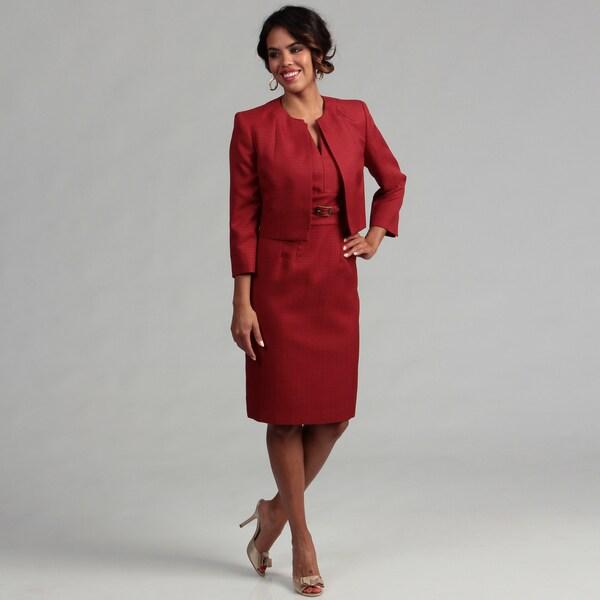 Kasper Women's 2-piece Rust Tweed Jacket/ Dress Set