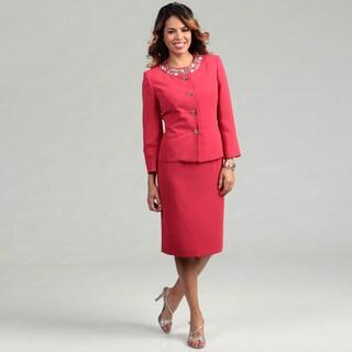 Kasper Women's Cherry Blossom Jeweled 2-piece Suit