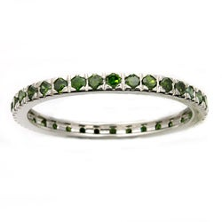 Beverly Hills Charm 14k White Gold 1/2ct TDW Green Diamond Wedding Band