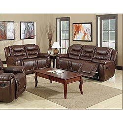 Samson Brown Reclining Sofa and Loveseat
