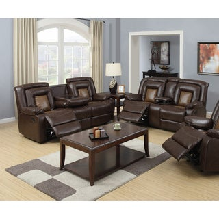 Capson Brown Reclining Sofa and Loveseat