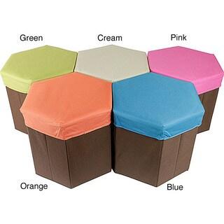 Hexagon Shaped Storage Box Stool (Set of 2)