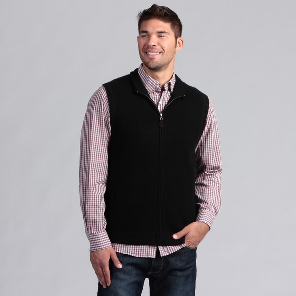 Oliver and James Men's Full Zip Cashmere Vest