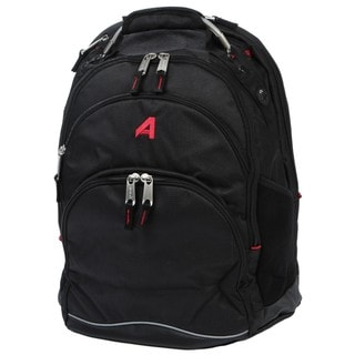 Athalon Black 16-inch Deluxe Laptop Backpack