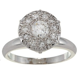 14k White Gold 1ct TDW Diamond Cocktail Ring (H-I, SI1-SI2)