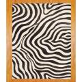 Indo Hand-tufted Zebra-print Brown/ Ivory Wool Rug (8' x 10')