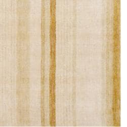 Indo Hand-knotted Tibetan Beige Wool Rug (4' x 6')