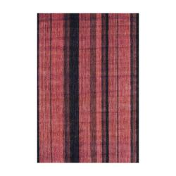 Indo Hand-Knotted Striped Tibetan Rust Wool Rug (4' x 6')