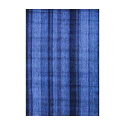 Indo Hand-knotted Tibetan Gray Wool Rug (4' x 6')