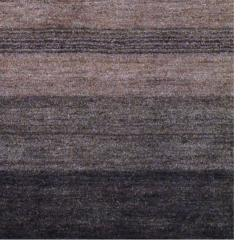 Contemporary Indo Hand-Knotted Tibetan Brown Wool Rug (4' x 6')