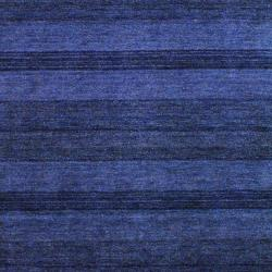 Contemporary Indo Hand-Knotted Tibetan Blue Wool Rug (4' x 6')