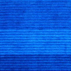Indo Hand-Knotted Tibetan Striped Blue Wool Rug (4' x 6')