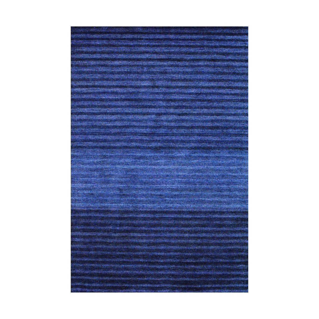 Herat Oriental Rectangular Indo Hand-knotted Tibetan Blue Wool Rug (4' x 6')