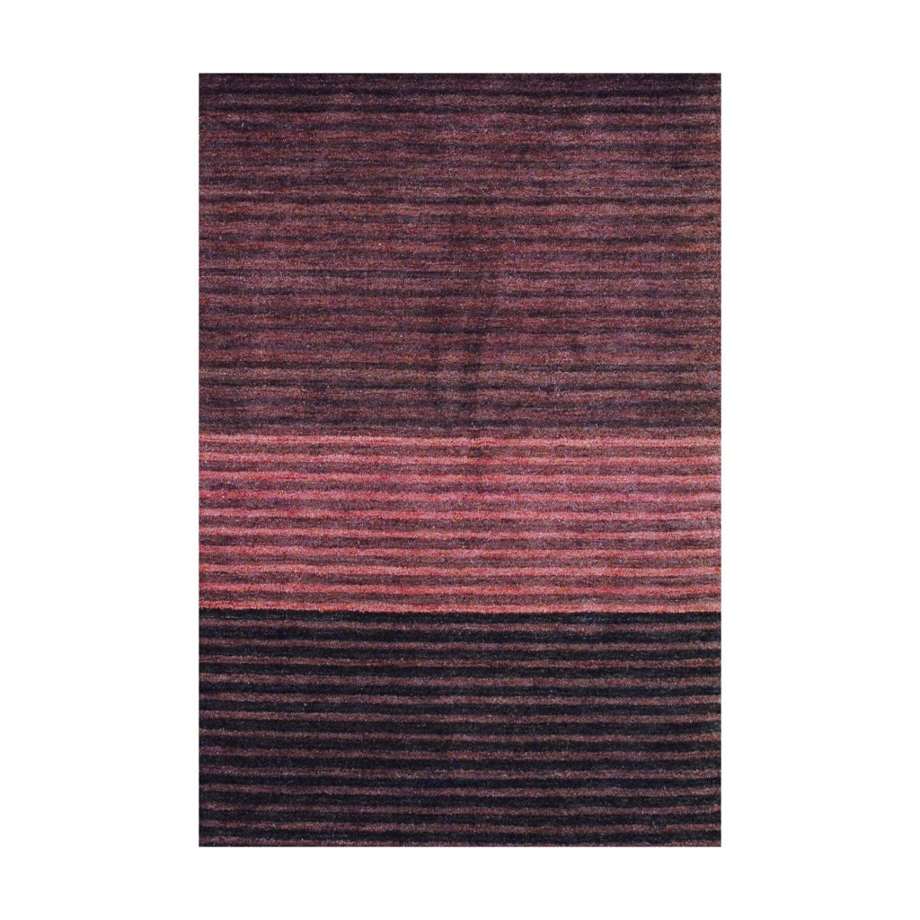Herat Oriental Indo Hand-knotted Tibetan Rust Wool Area Rug (4' x 6')
