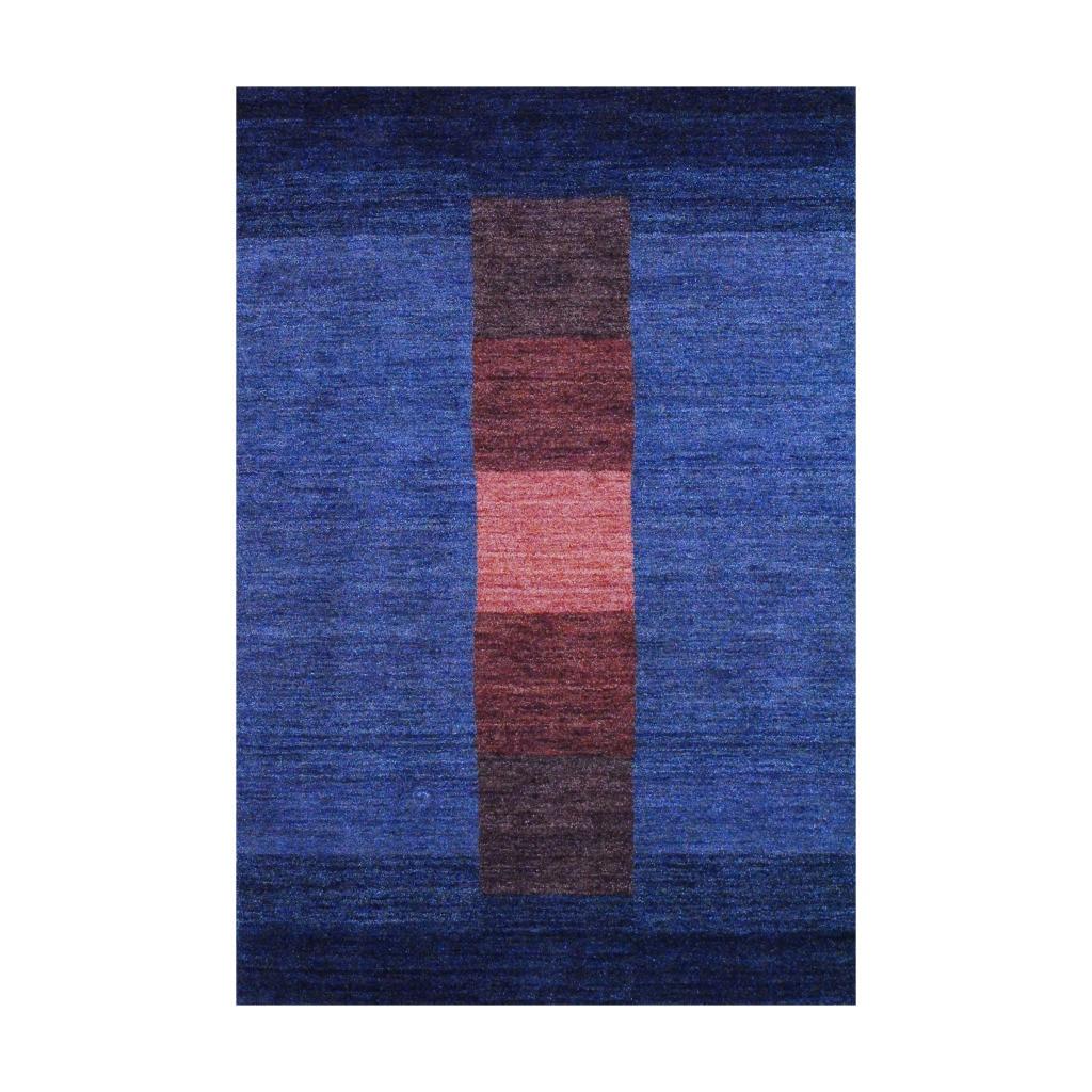 Indo Hand-Knotted Tibetan Dark Gray Wool Area Rug (4' x 6')