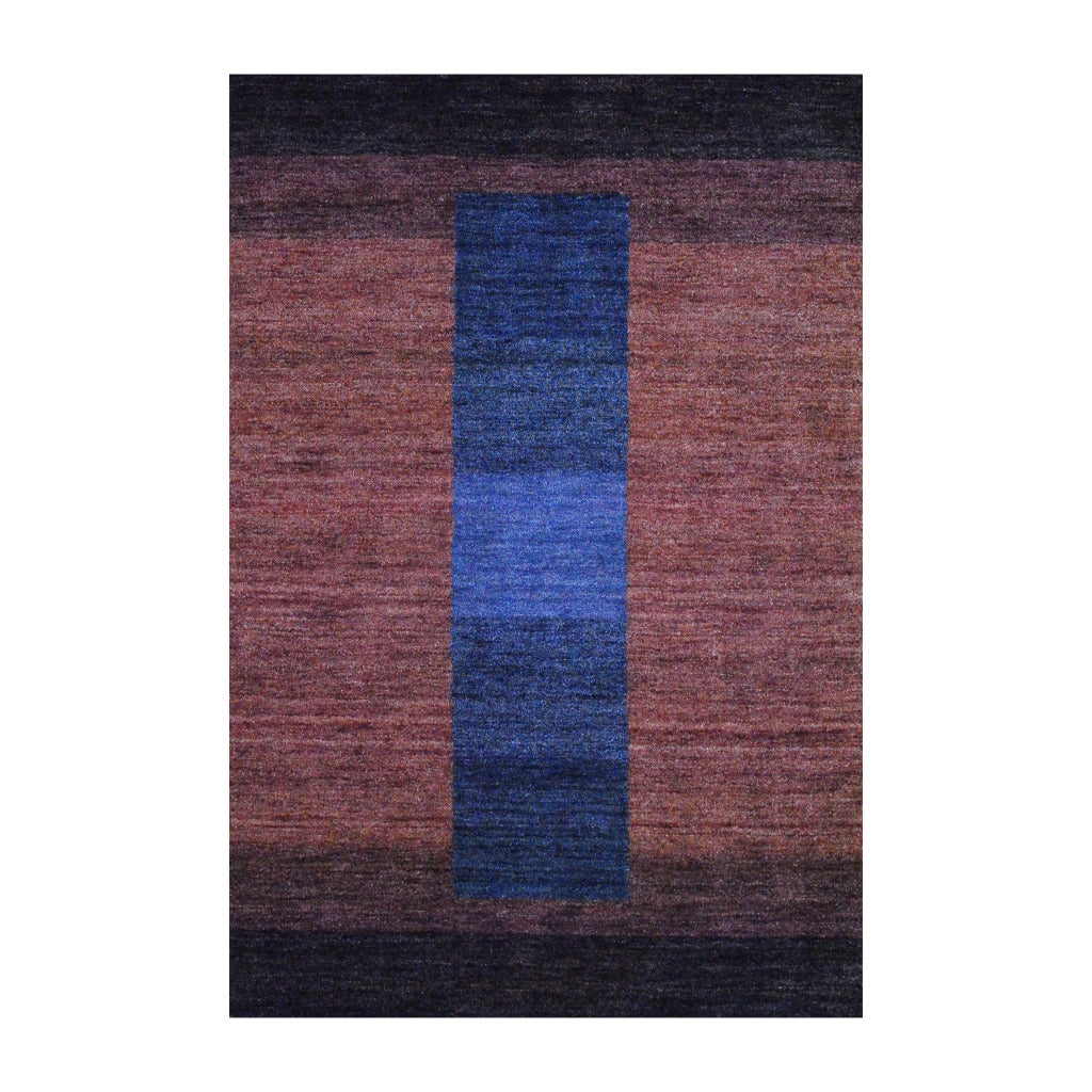Herat Oriental Indo Hand-knotted Tibetan Striped Brown Wool Rug (4' x 6')
