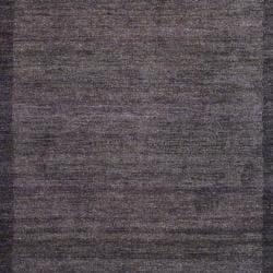 Indo Hand-Knotted Tibetan Brown/Light Brown Wool Rug (4' x 6')