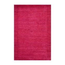 Indo Hand-Knotted Tibetan Contemporary Red Indoor Wool Rug (4' x 6')