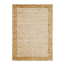 Imported Indo Hand-Knotted Tibetan Beige Wool Rug (4' x 6')