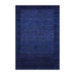 Indo Hand-Knotted Tibetan Gray/Dark Gray Wool Rug (4' x 6')