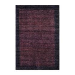 Indo Hand-Knotted Tibetan Brown/Dark Brown Wool Rug (4' x 6')