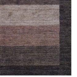 Indo Hand-Knotted Tibetan Brown Bordered Wool Rug (4' x 6')