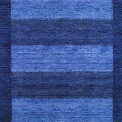 Indo Hand-Knotted Tibetan Gray Wool Rug with Half-Inch Pile (4' x 6')