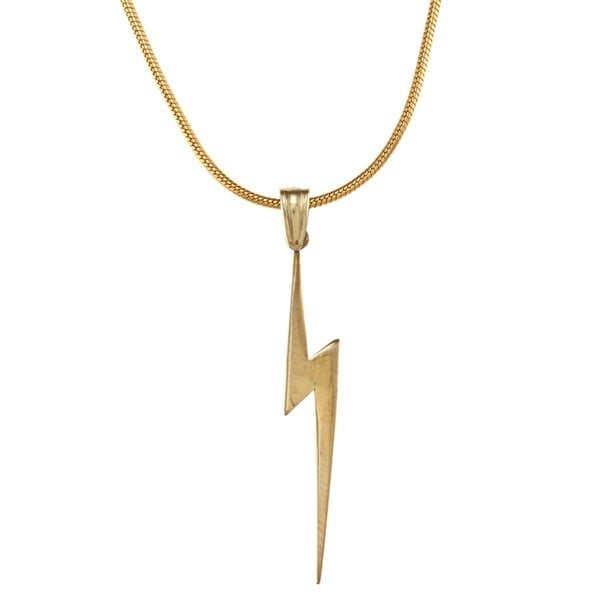 White Trash Charms Sterling Silver Small Lightning Bolt Necklace