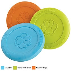 Orange Zogoflex Zisc Pet Frisbee From West Paw Design (8.5 Inches)