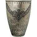 Antique-Retro Fusion Necklace Design Silver Fresco Finish Embossed Vase (India)