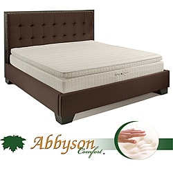 Abbyson Comfort 'Sleep-Green' 12-inch Queen-size Pillowtop Memory Foam Mattress