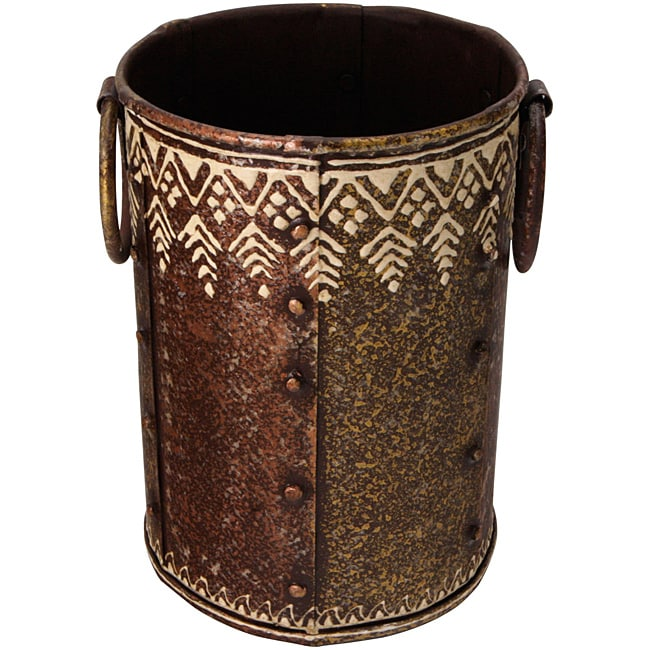 Hand Beaten Wrought Iron Decorative Vase India