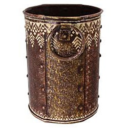 Hand-beaten Wrought Iron Decorative Vase (India)