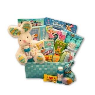 Little Cottontails Blue Easter Activity Basket