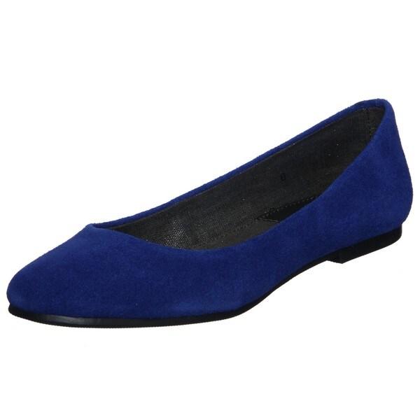 BC Footwear Women's 'Limousine' Cobalt Suede Flats