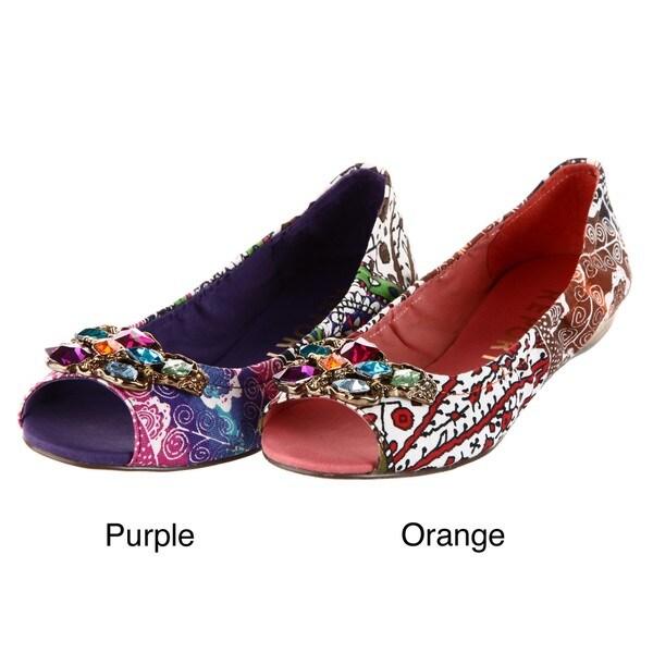 Report Women's 'Katie' Orange Open-toe Flats