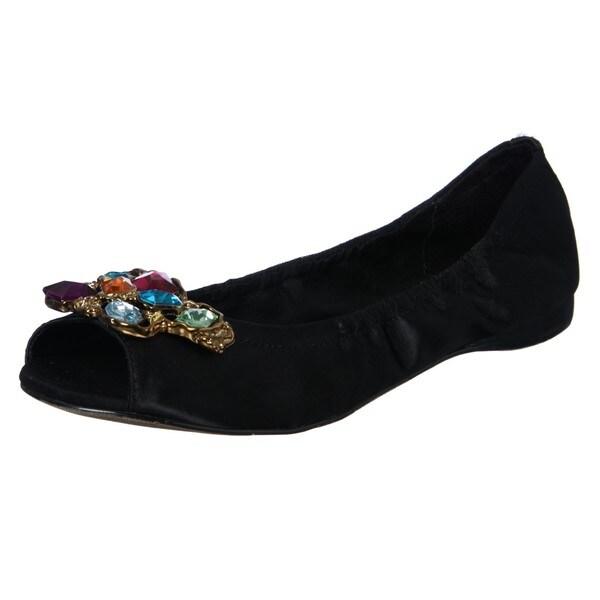 Report Womens 'Katie' Black Open-toe Flats