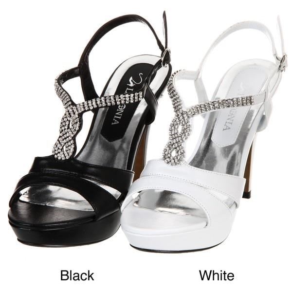 Lasonia Women's Rhinestone Platform Heels