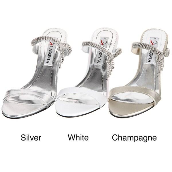 Lasonia Women's Champagne Rhinestone Heels